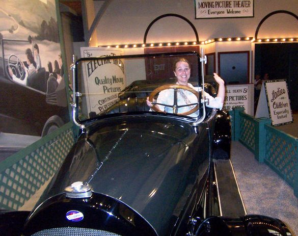 Kristin at the Henry Ford Museum