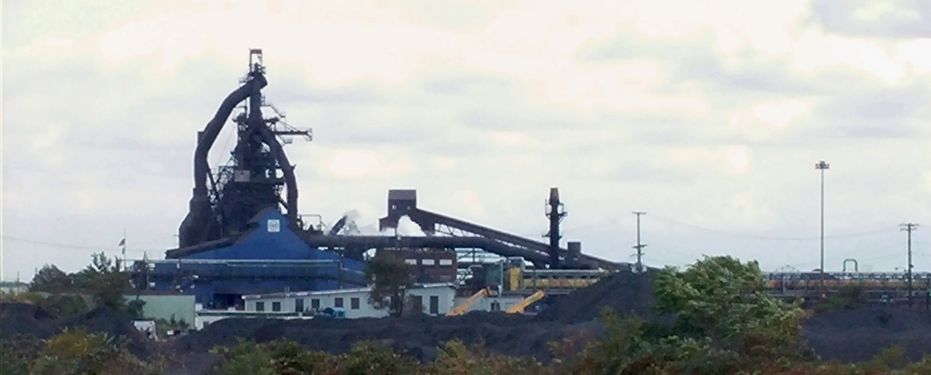 U.S. Steel Mill on Zug Island.