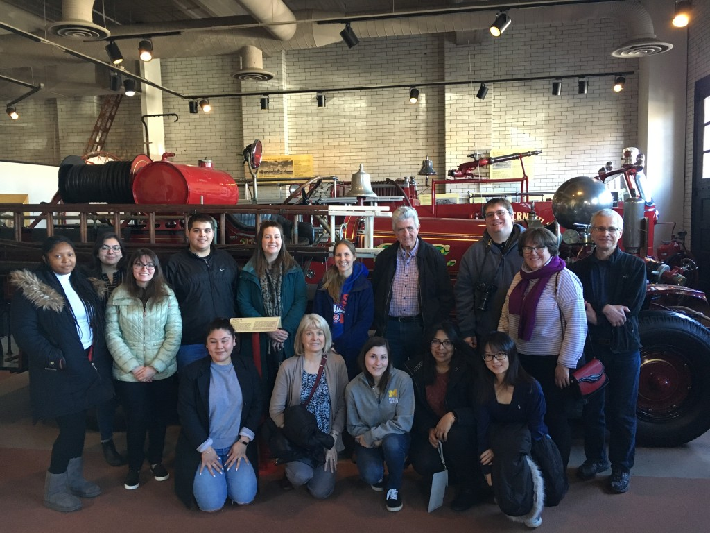 Attendees from the UM and UC ERCs attended a tour of the Cincinnati Fire Museum